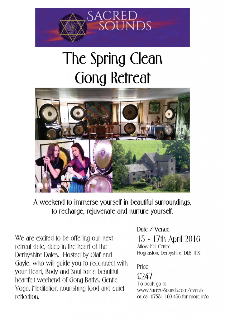 2016 Spring Clean Gong Retreat
